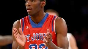 St. John's Rysheed Jordan celebrates his basket in