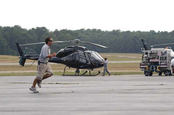 Helicopters at East Hampton Town Airport in Wainscott