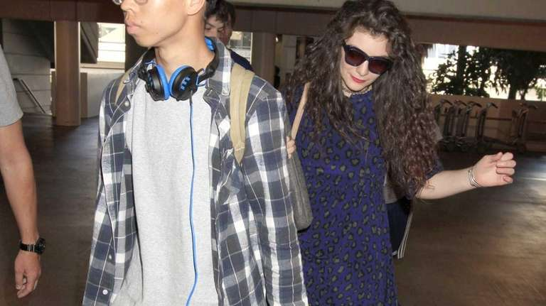 Lorde spotted with her boyfriend, James Lowe, as