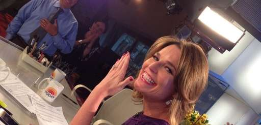 Savannah Guthrie shows off her engagement ring on