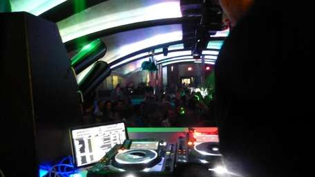 The view from the DJ booth of LOVE