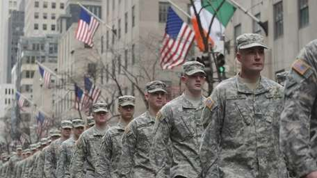 Members of the New York Army National Guard