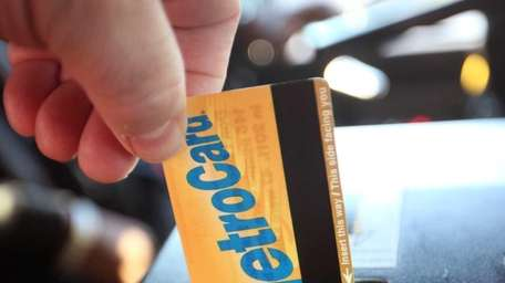 This is a photo illustration of a metrocard