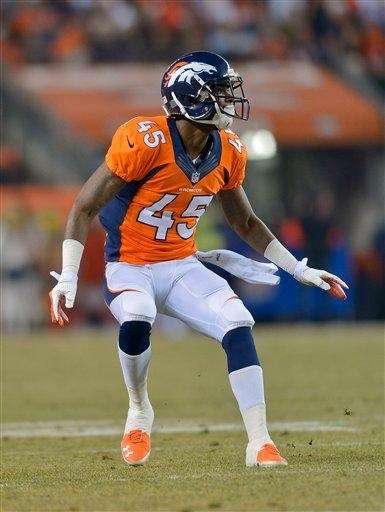 Denver Broncos cornerback Dominique Rodgers-Cromartie (45) defends against