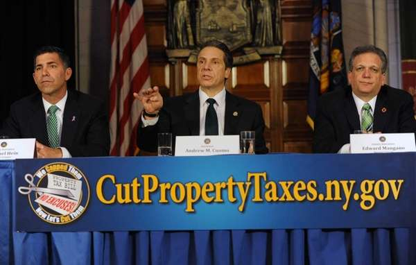 Gov. Andrew Cuomo is joined by Michael Hein,