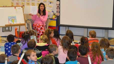 In Ronkonkoma, Edith K. Slocum Elementary School kindergartners