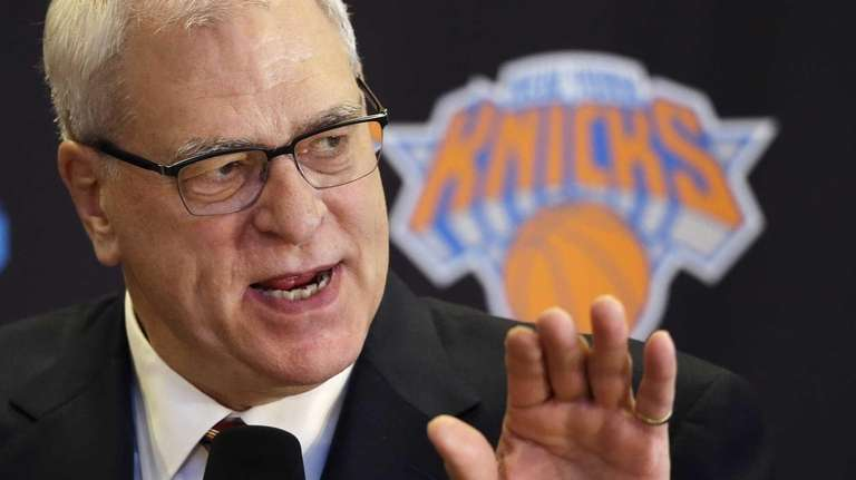 Phil Jackson, the new president of the Knicks,