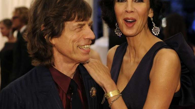 Mick Jagger and L'Wren Scott attend the Costume