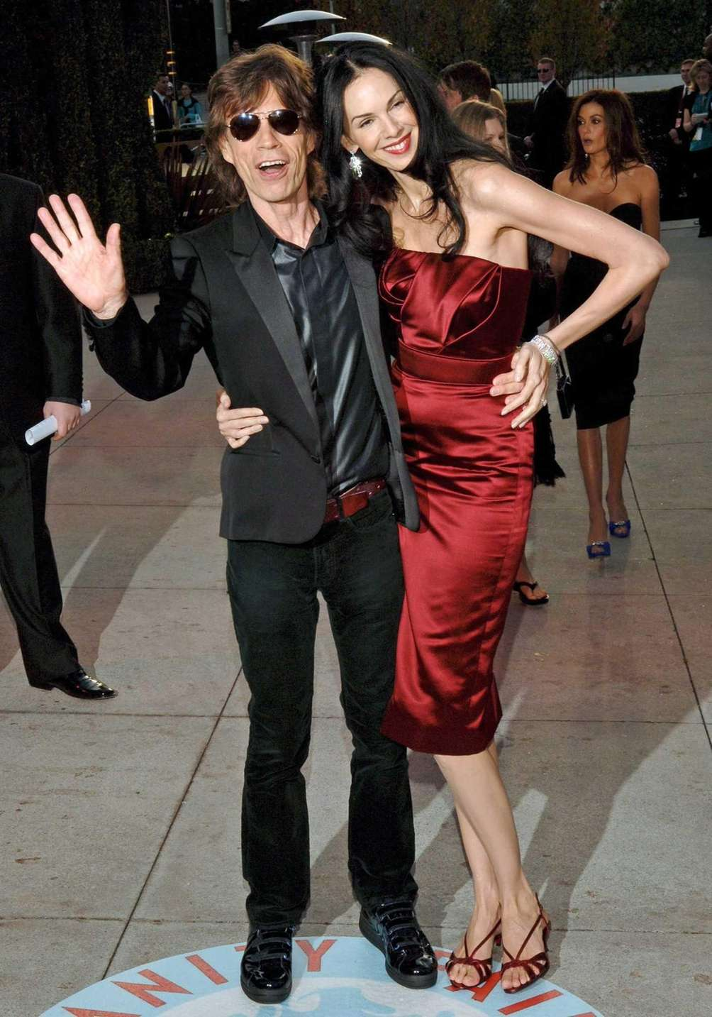 Rolling Stones front-man Mick Jagger and model-turned-celebrity stylist