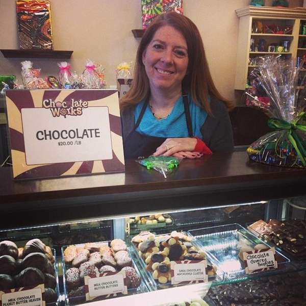 Stephanie Solomon, of Roslyn, opened up Chocolate Works
