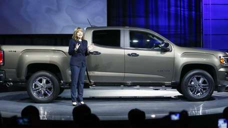 General Motors CEO Mary Barra introduces the 2015