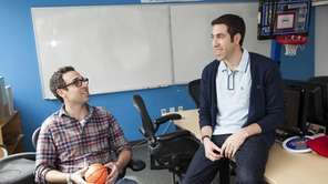 Writers Craig Gerard, left, and Matthew Zinman from