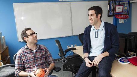Writers Craig Gerard, left, and Matthew Zinman from