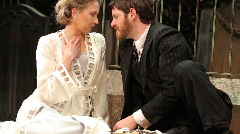 Nina Arianda and Michael Esper in a scene