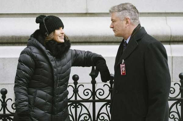 "Mariska Hargitay and Alec Baldwin in ""Law &"