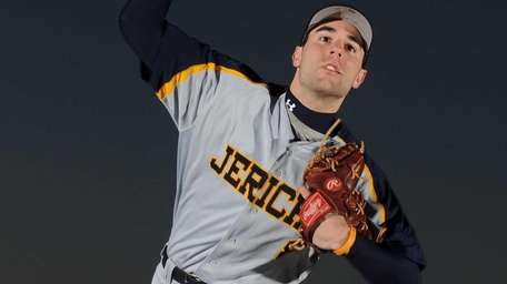 Jericho High School pitcher Mike Goren poses for