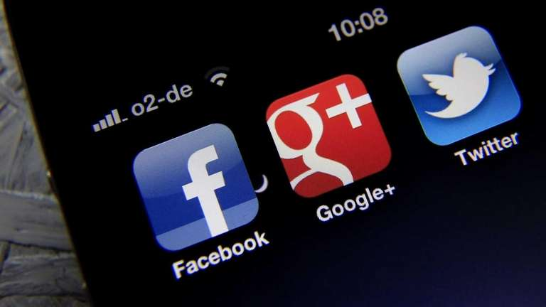 Social networking apps are often easily accessed from