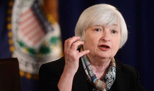 Federal Chair Janet Yellen holds her first news