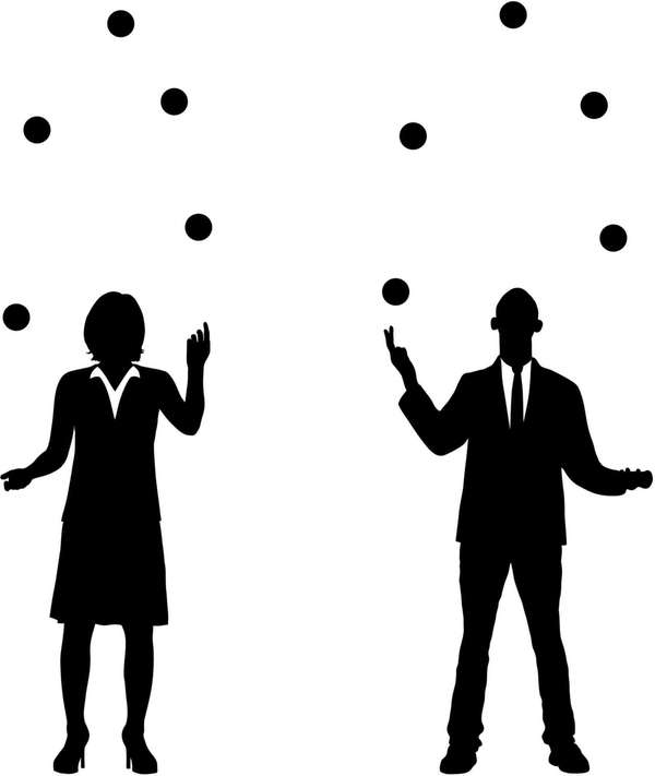Business people juggling.