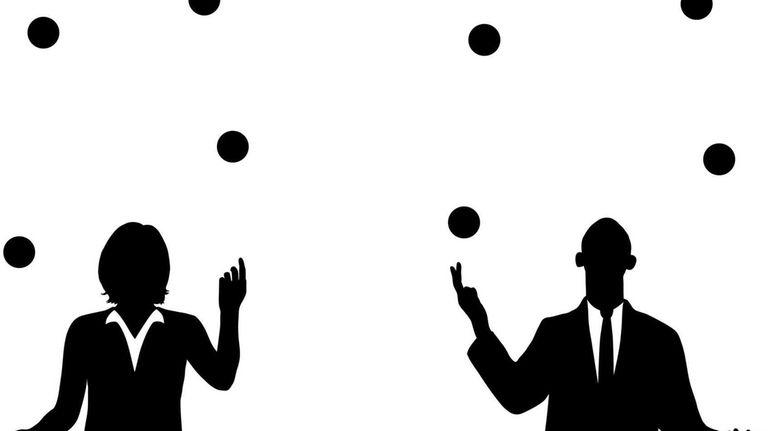 Business people juggling.