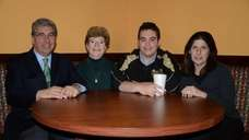 From left, John LaSpina, owner of Rockville Centre