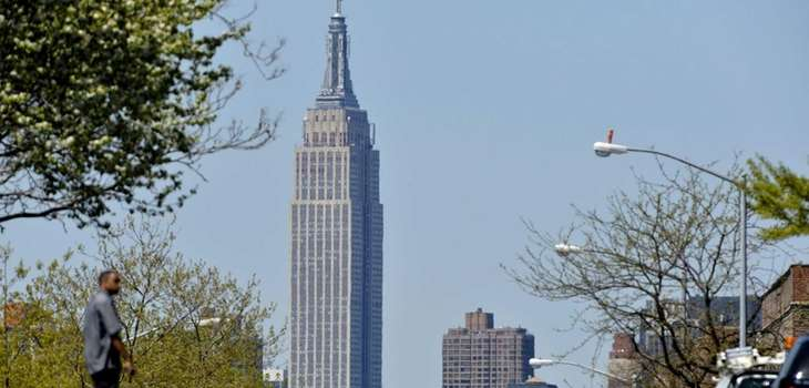 A view of the Empire State Building from