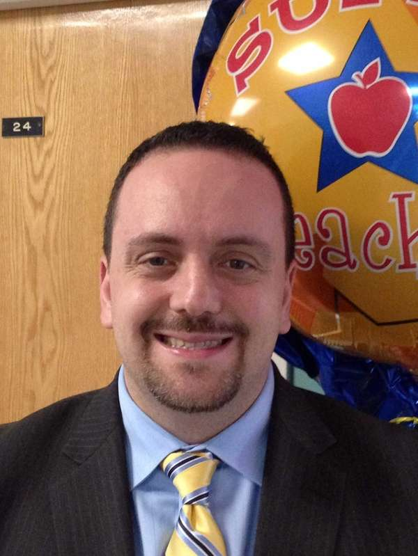 Tony Sinanis, the principal at Cantiague Elementary School