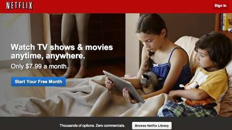 A screenshot of the Netflix.com homepage.