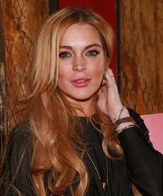"Lindsay Lohan attends the ""Just Sing It"" app"