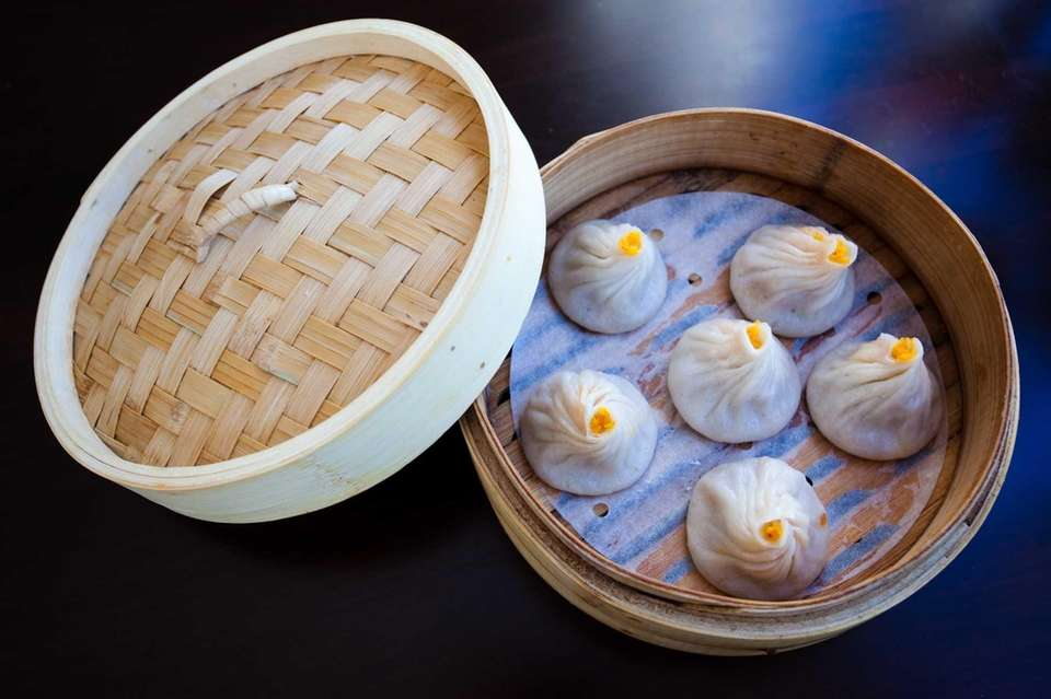 Chinese soup dumplings at Red Tiger Dumpling House,