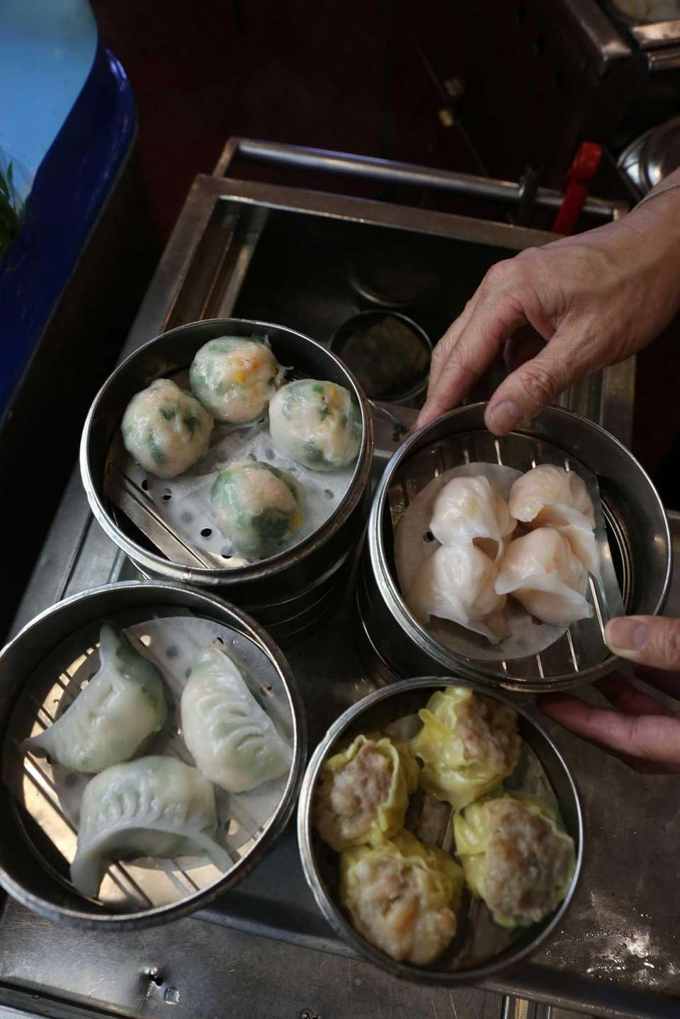 Chinese Crystal shrimp dumplings at Fortune Wheel, Levittown:
