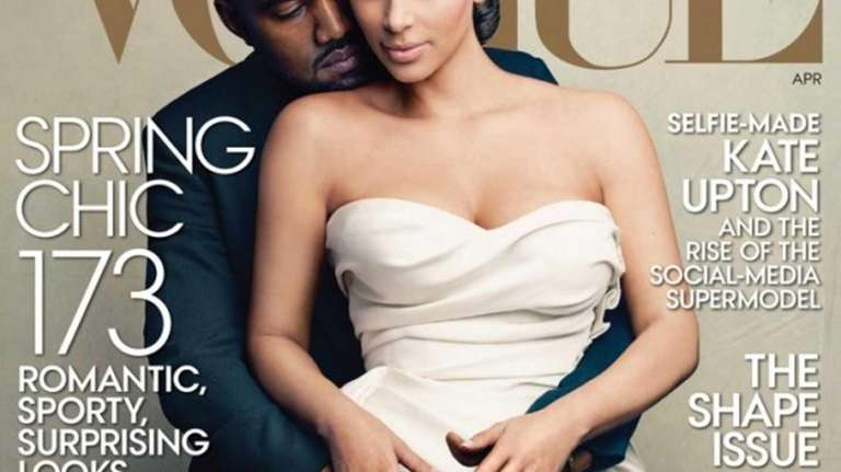 Vogue magazine's April 2014 cover, featuring Kim Kardashian