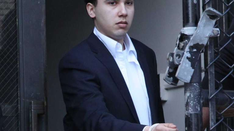 Jonathan Lopez leaves the Nassau County Courthouse on
