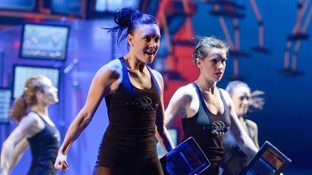 Rockettes rehearsing at the
