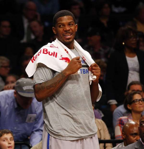 Joe Johnson of the Nets smiles from the