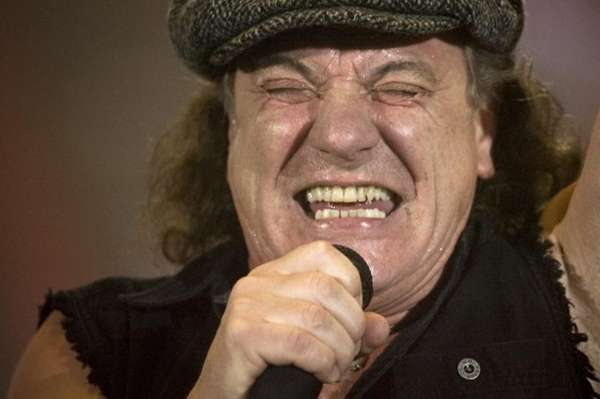 Brian Johnson, lead singer of Australian rock band