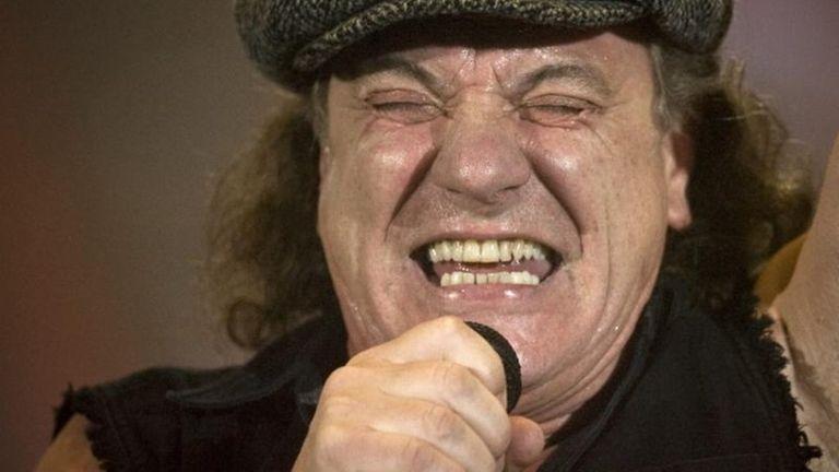 Brian Johnson, lead singer of Australian rock band