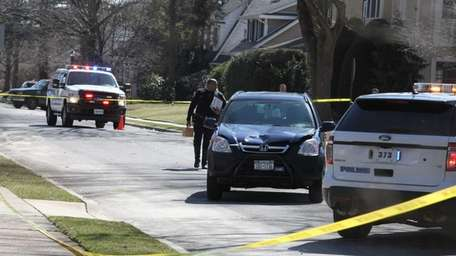 Police at the scene on Salisbury Avenue and