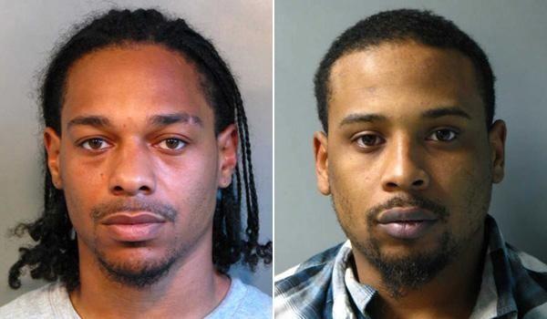 Uriel Whyte, left, 27, of Hempstead, was arrested