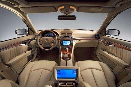 The interior of a 2007 Mercedes E-class.