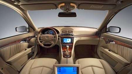 The interior of a 2007 Mercedes E-class.