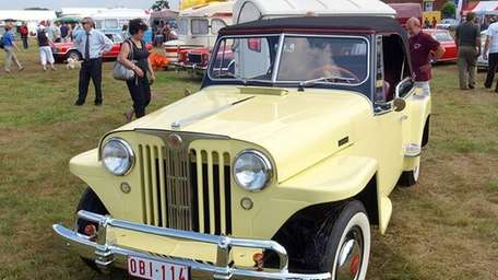 A Willys Jeepster photographed at The International Oldtimer