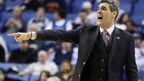 Villanova head coach Jay Wright gestures during the