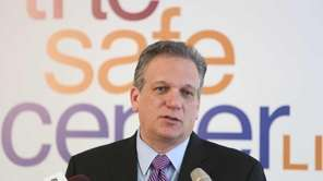 Nassau County Executive Ed Mangano speaks during a