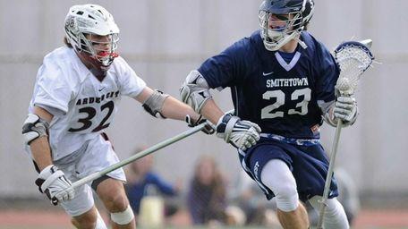 Smithtown West's Matt Heldberg looks to get past