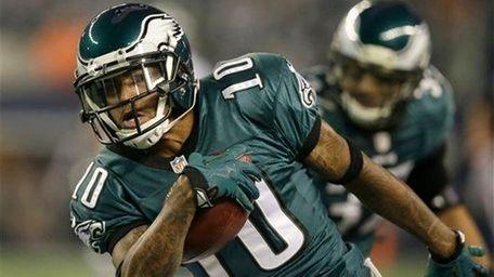 Philadelphia Eagles wide receiver DeSean Jackson (10) runs