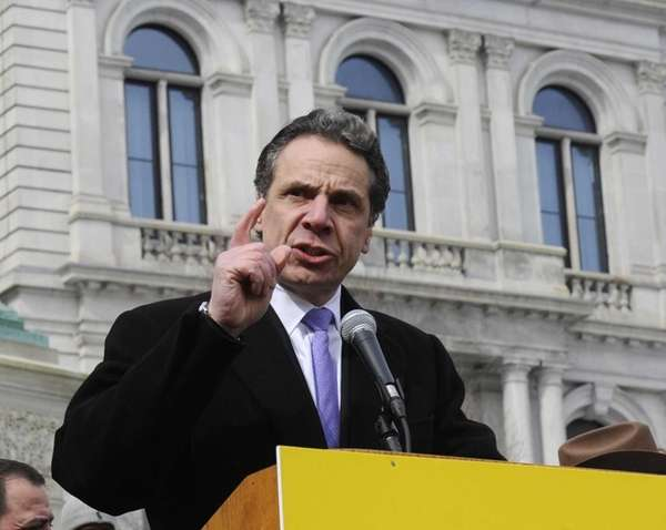New York Gov. Andrew Cuomo speaks at a