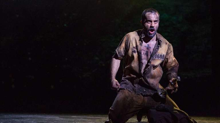 Ramin Karimloo is shown during a performance of