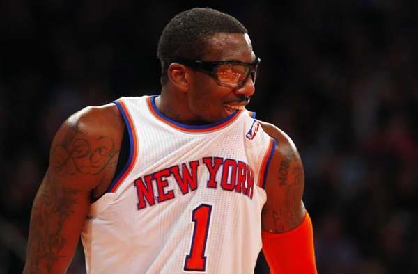 Amar'e Stoudemire looks on against the Milwaukee Bucks