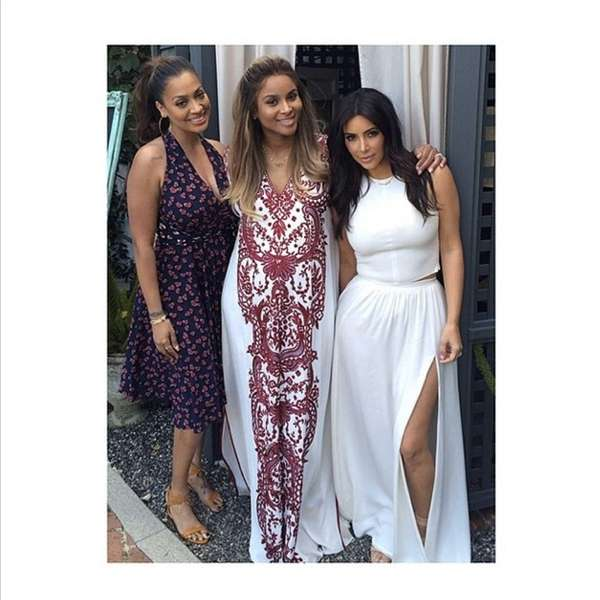 La La Anthony, Ciara and Kim Kardashian at